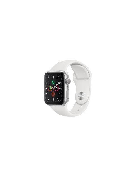 Apple Watch Series 5 44mm | Silver - White Sport Band